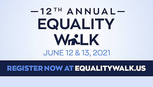 12th Annual Equality Walk flyer with logo