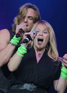 Lime singers Joy Dorris and Chris Marsh