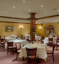 The Dining Room at Luciano's Reaturant in Rahway NJ. Photo by Ralph Malachowski.
