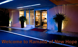 The main entrance to the Ramada is your first welcome to the Rrazz Room.