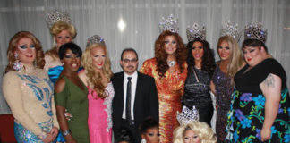 The contestants at Paradise for Miss Paradise 2014 contest with club manager