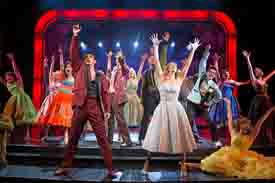 The cast of Grease at Papermill Playhouse