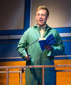 """Scene from """"How To Succeed In Business"""" at Walnut Street Theatre"""