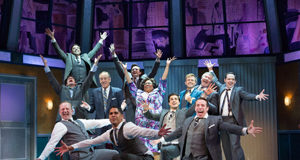 """The cast of """"How To Succeed In Business"""" at Walnut Street Theatre"""