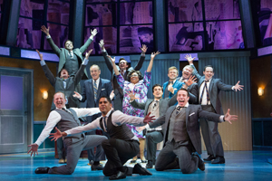 "The cast of ""How To Succeed In Business"" at Walnut Street Theatre"