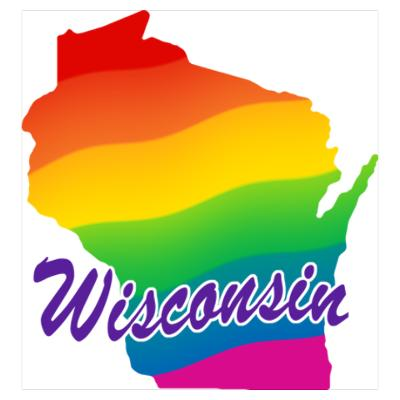 Wisconsin Rainbow State map