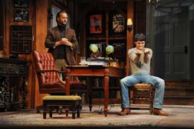 "Scene from ""Deathtrap"" at Bucks County Playhouse. Photo by Mandee Kuenzle."