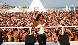 Ascencion Party Fire Island stage in 2013
