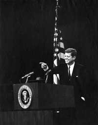 John F. Kennedy photo by Abbie Rowe