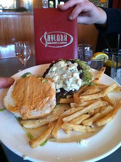 Skylark sky blue burger