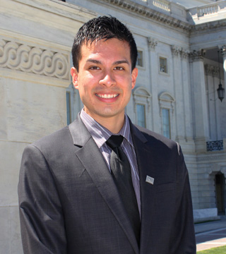 Gay and Lesbian Victory Institute intern Emanuel Laboy of Fanwood NJ.