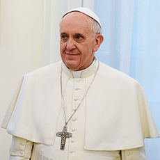 Pope Francis shown here in March of 2013