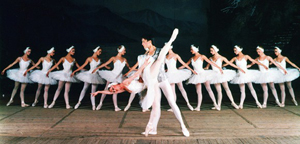 Swan Lake dancers by the Moscow Festival Ballet