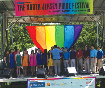 Stage at North Jersey Pride Festival. Photo by Steve Dovidio.