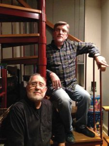 Richard and David in their Mill Hill home in Trenton. Photo by Gary Nigh.