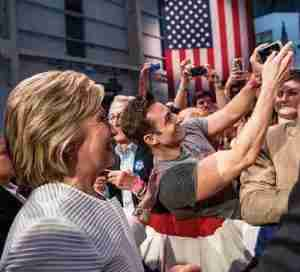 Scott Nevins with Hillary Clinton