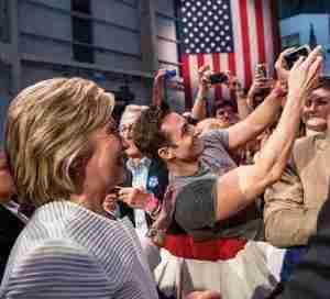 Scott Nevins with Hillary Clinton