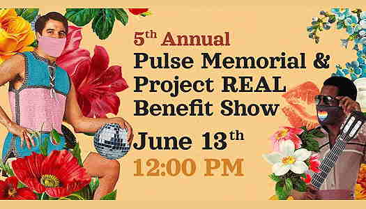 5th Annual Pulse Memorial & Project REAL Benefit Show 5th Annual Pulse Memorial & Project REAL Benefit Show flyer with two masked young men