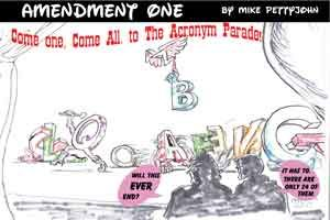 Amendment One Cartoon by Michael Pettyjohn for Out In Jersey magazine
