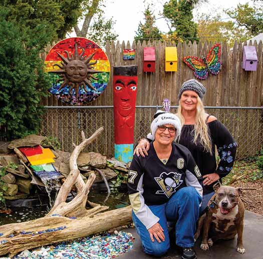 Cape May Mosaics artist Lori Erdley and the family at home