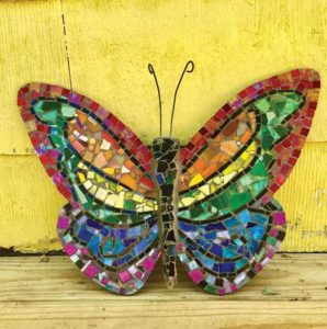 Cape May Mosaics artist butterfly creation
