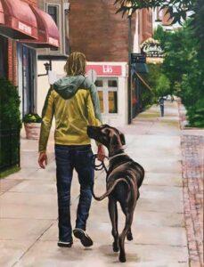 "David Meadow painting ""Best friends"""