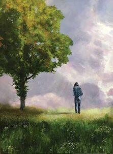 "David Meadow painting ""Feeling Free"""