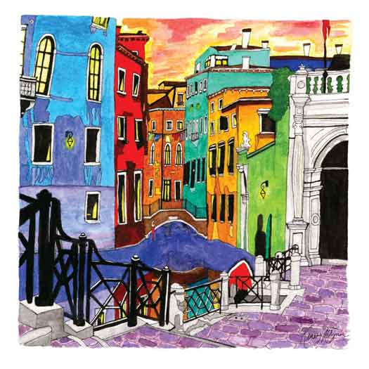 Colorful Kinsey Ratzman painting of