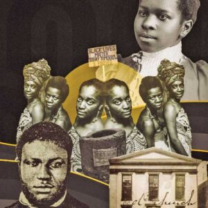 One of Noelle Lorraine Williams' new art pieces on Newark's Black community and history
