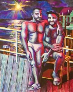 """Vintage Beefcakes"" by NJ artist Steve Cummings"