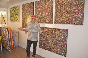 Tony LaSalle inside his Asbury Park gallery