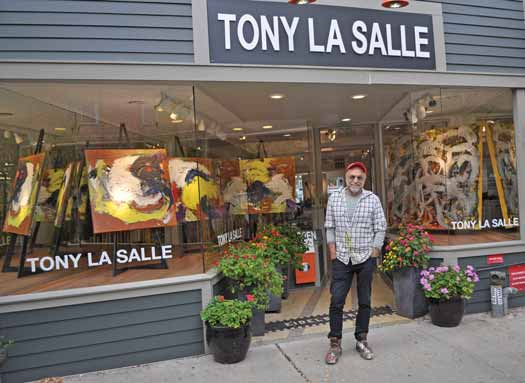 Tony LaSalle outside his Asbury Park gallery