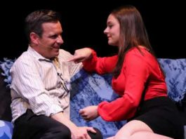 """Intimate scene from """"A Dog Story"""" at Bickford Theatre"""