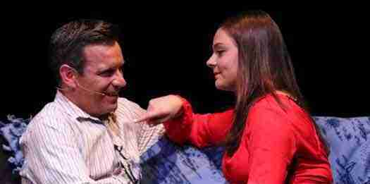 "Intimate scene from ""A Dog Story"" at Bickford Theatre"