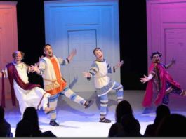 """A scene from """"A Funny Thing Happened on the Way to the Forum"""" at the Princeton Festival"""