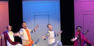 "A scene from ""A Funny Thing Happened on the Way to the Forum"" at the Princeton Festival"