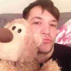 Michael Alig with Skroddlebear