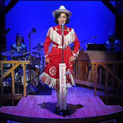 "Carter Calvert as Patsy Cline in ""Always … Patsy Cline"" at Bucks County Playhouse"