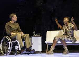 "Scene from ""America Hero"" at George Street Playhouse"