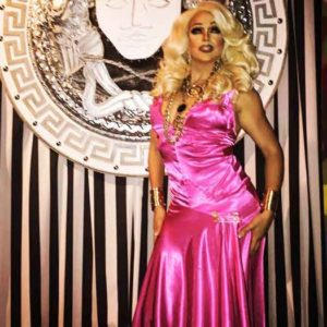 Drag Queen Athena Dion on stage