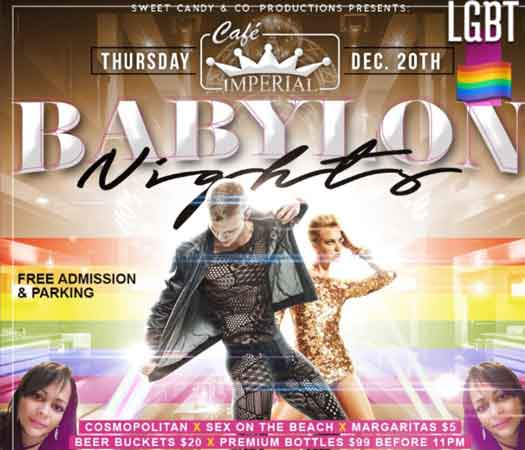 Babylon Nights at Cafe Imperial Thursday nights