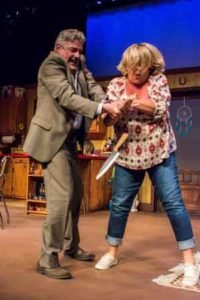 "Scene from ""Bakersfield Mist"" at Bickford Theatre in Morristown, NJ"