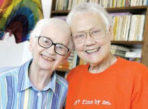 File photo: Barbara Gittings with Kay Lahusen in 2005
