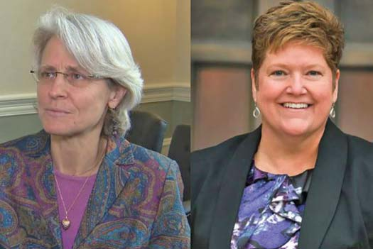 Beth Robinson of Vermont and Charlotte Sweeney of Denver