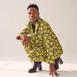 Billy Porter in yellow outfit