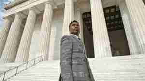 Billy Porter in Washington D.C. at Lincoln Memorial