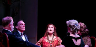 """Blithe Spirit"" at The Shakespeare Theatre of NJ. Photo credit: Jerry Dalia"