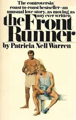 "Patricia Nell Warren book cover of ""The Front Runner"" from 1974"