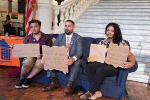 Pennsylvania Representative Brian Sims at a LGBT homeless organization event