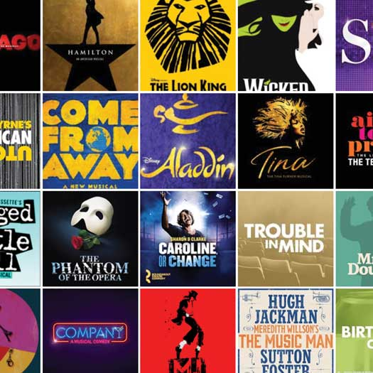 Broadway show collection of promo pictures